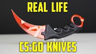 getlinkyoutube.com-CS:GO KNIVES IN REAL LIFE!! (Karambit Elemental Knives) - Part 1