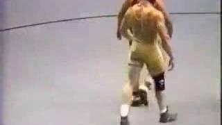 getlinkyoutube.com-2000 NCAA: Brock Lesnar (Minn) vs Wes Hand (Iowa) Pt 2
