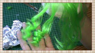 getlinkyoutube.com-Tutorial: Como rizar una peluca sintetica