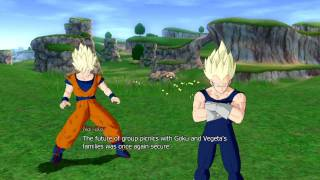 "getlinkyoutube.com-Dragon Ball Raging Blast - What-If saga - 10 - ""The Family Tag-Team"""