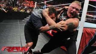 getlinkyoutube.com-Brock Lesnar attacks CM Punk: Raw, July 15, 2013