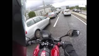 Biker vs audi