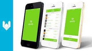 getlinkyoutube.com-Harley P - Spotify App UI Redesign (Photoshop CC)