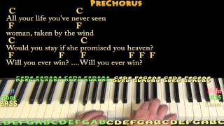 Rhiannon (Fleetwood Mac) Piano Cover Lesson with Chords/Lyrics