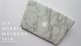 getlinkyoutube.com-DIY Marble Macbook Skin/Decal