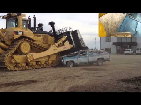 Caterpillar D11T Bulldozer Car Crush