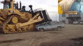 getlinkyoutube.com-Caterpillar D11T Bulldozer Car Crush