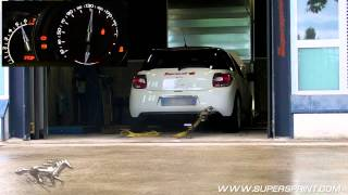 getlinkyoutube.com-Citroen DS3 Racing sound with Supersprint full exhaust on the dyno - 221 hp!