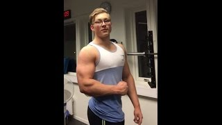 getlinkyoutube.com-back and upper body beastworkout by 16 year old with benchpress max 150kg