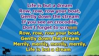 getlinkyoutube.com-Karaoke for kids - Row, row, row your boat - slow - with backing melody