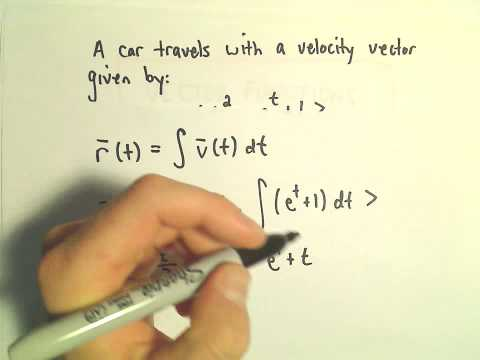 Vector Functions: Position, Velocity, Acceleration Word Problem, Ex 1