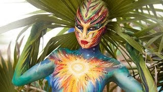 getlinkyoutube.com-Sunny Body Painting for Art Fashion Studio. NK