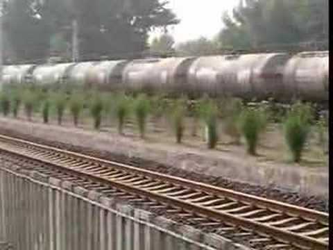 China railway,tanker freight train,diesel locomotive DF4C