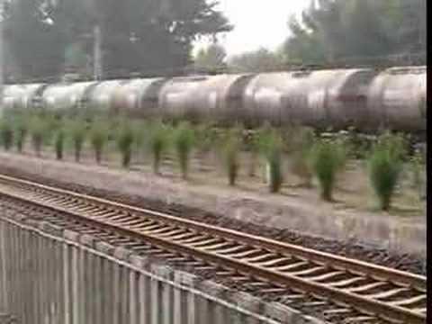 China railway,tanker freight train,diesel locomotive DF4C