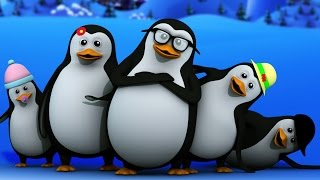 getlinkyoutube.com-five little penguins | nursery rhymes | baby songs | kids rhymes