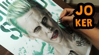 getlinkyoutube.com-Drawing the Joker (Suicide Squad) - Jared Leto #MOVIESANDSERIES