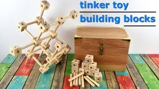 How To Make Homemade Tinker Toys - DIY Gift Idea width=