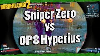 Borderlands 2 | Sniper Zero vs OP8 Hyperius w/ Minion Stacking Trick (Read Description)