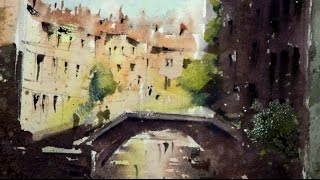 getlinkyoutube.com-Watercolor demonstration of a typical VENICE sketch