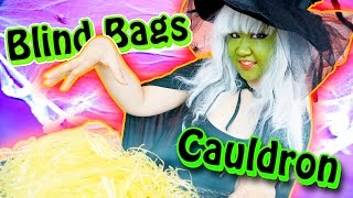 getlinkyoutube.com-Evil Witch's Blind Bags Cauldron - Halloween Special Costume Parody for Kids
