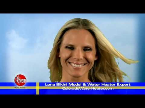 Swedish Bikini Model Troubleshoots a HOT WATER HEATER