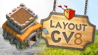 getlinkyoutube.com-Clash of Clans - Layout Cv8 Push/Guerra (2016)