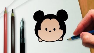 getlinkyoutube.com-How to draw Mickey Disney Tsum Tsum version