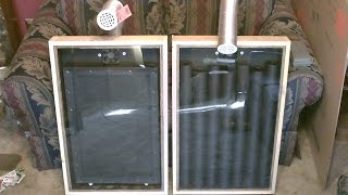 "getlinkyoutube.com-Solar Air Heater! - The ""Screen Absorber"" Solar Air Heater! - Easy DIY (full instructions)"