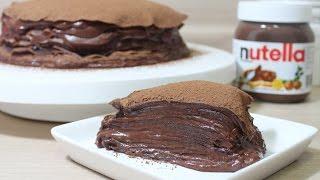 getlinkyoutube.com-[The스쿱] # 61.악마의 누텔라 크레이프 케이크 (Nutella crepe cake)