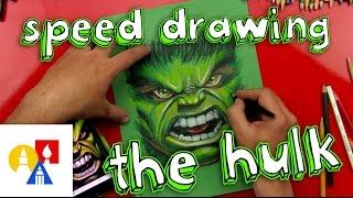 getlinkyoutube.com-The Hulk Speed Drawing