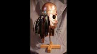Изготовление медного шлема с маской-личиной.Чеканка.