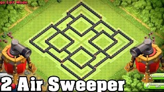 getlinkyoutube.com-Clash of Clans - BEST Town hall 9 (TH9) Farming BASE Defense New COC Update 2 Air Sweeper
