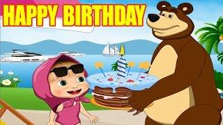 getlinkyoutube.com-Happy Birthday MASHA and The Bear | Birthday Song For Children