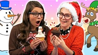 getlinkyoutube.com-DIY Reindeer & Snowman Cupcakes - Edible Craft | A Cool School Craft with Crafty Carol & Ms. Booksy