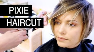 getlinkyoutube.com-Pixie Haircut Transformation:  Michele's Before and After