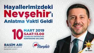 Rasim Arı, Nevşehir İçin büyük projelerini açıklıyor