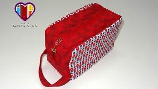 getlinkyoutube.com-Bolsa necessaire de tecido Inglesa. Compre o projeto: moldes medidas passo a passo: MariaAdnaAteliê