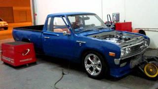 getlinkyoutube.com-Bisimoto tuning of boosted old school Datsun pickup truck