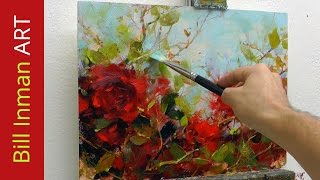 getlinkyoutube.com-How to Paint Roses - Oil Painting Demo Fast Motion