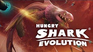 getlinkyoutube.com-Hungry Shark Evolution -  New Space Shark Alan, Destroyer of Worlds