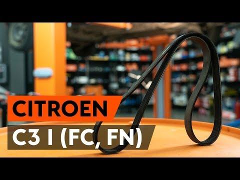 Как заменить поликлиновый ремень двигателя CITROEN C3 1 (FC, FN) (ВИДЕОУРОК AUTODOC)