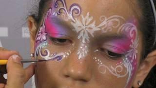 getlinkyoutube.com-Pretty Face Painting Mask Design & Tutorial