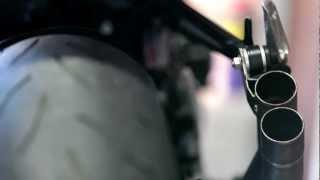 getlinkyoutube.com-GSR 750 2012 MIVV DOUBLE GUN AVEC ET SANS CHICANE / WITH AND WITHOUT DB KILLER
