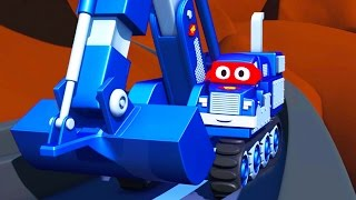 getlinkyoutube.com-Carl  the Super Truck 🚚 in Saving Baby Cars 👶 in Car City | Trucks Cartoon for kids