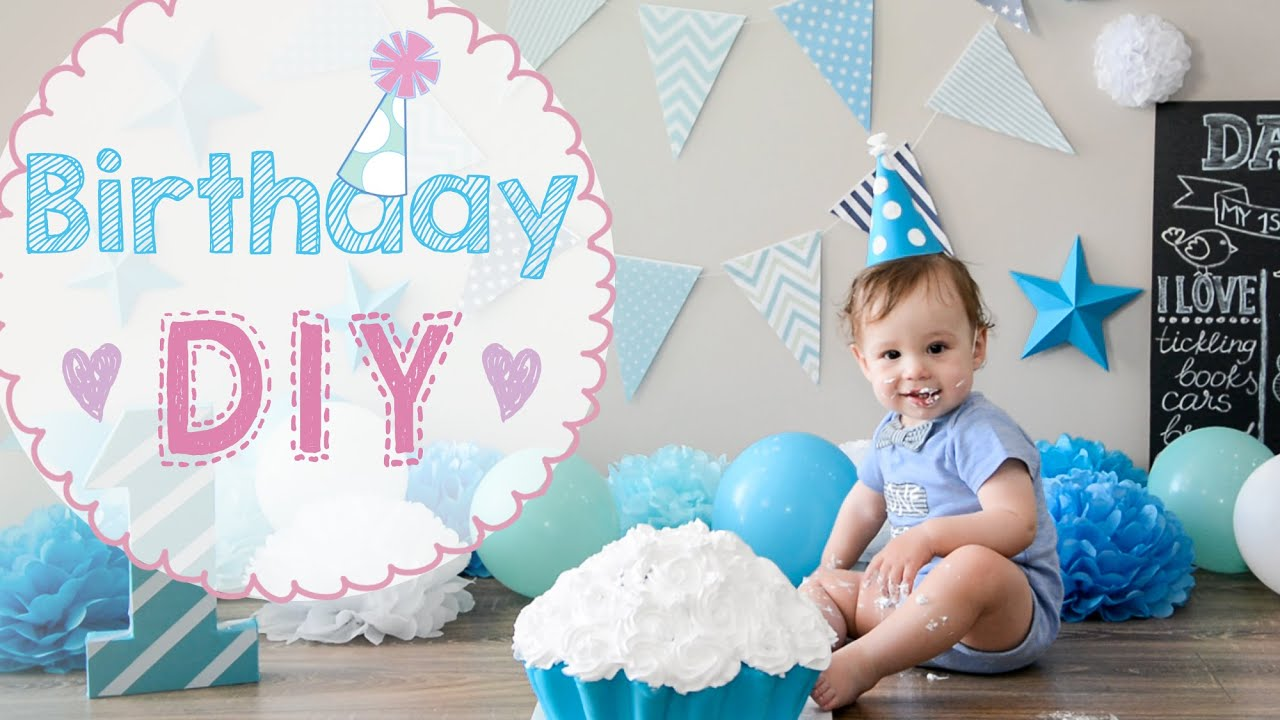 Baby Birthday 1 year party DIY | cake crash | how to make toddler BD party celebration awesome