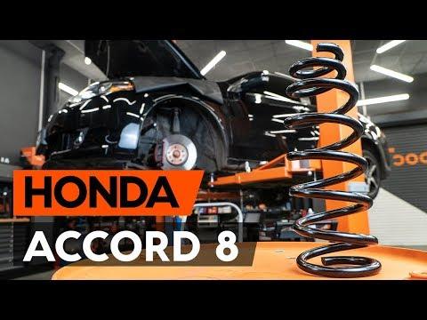 Как заменить пружины передней подвески HONDA ACCORD 8 (CU2) (ВИДЕОУРОК AUTODOC)