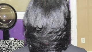 getlinkyoutube.com-Your Hair is Laid HUNTY!!!!! (Flat Ironed Natural Hair)