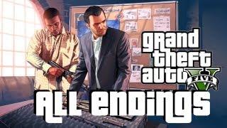 getlinkyoutube.com-GTA 5 ALL ENDINGS (Options A, B, C) Walkthrough  w/ Gameplay Grand Theft Auto V