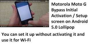Tip: How to Bypass Android Activation Screen on Motorola