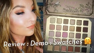 Too Faced Natural Love Eyeshadow Collection Palette : Review : Demo : Swatches